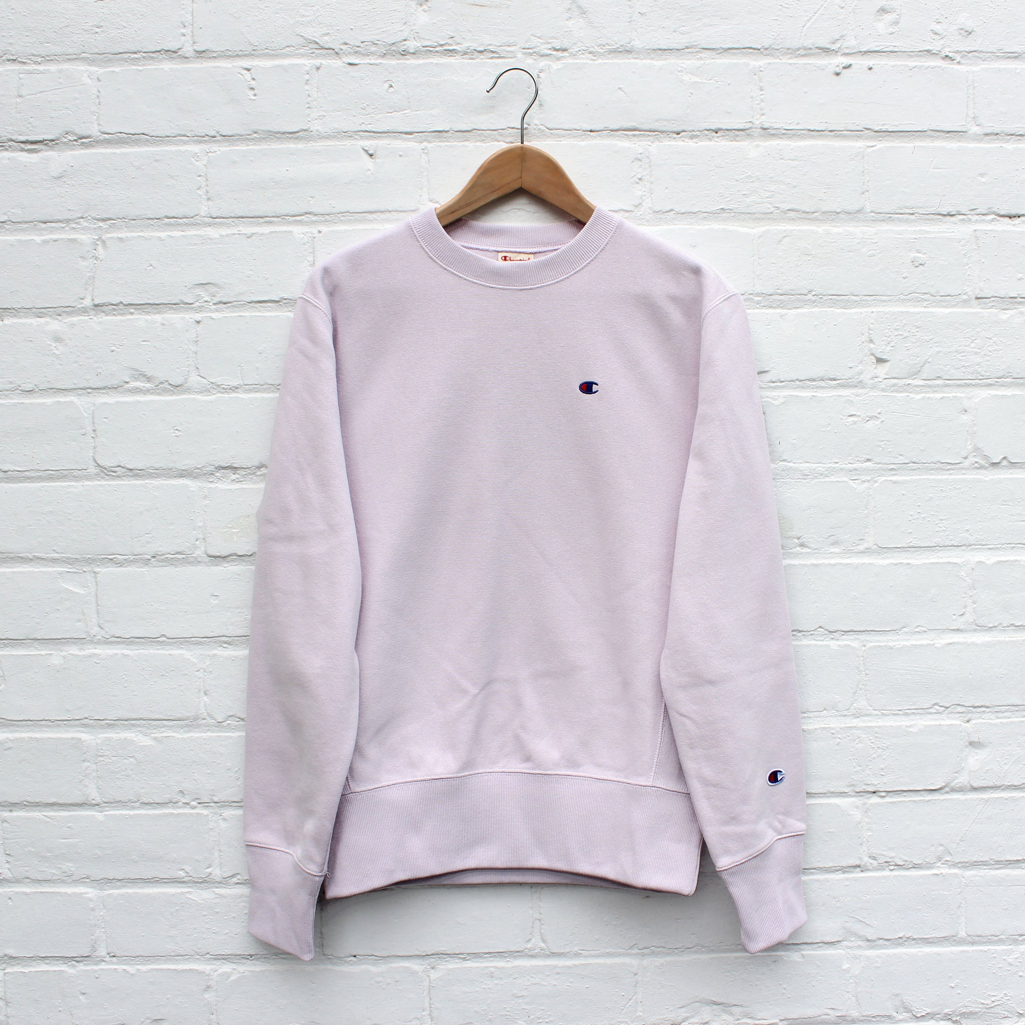 Champion Small C Sweat Crew Lavender