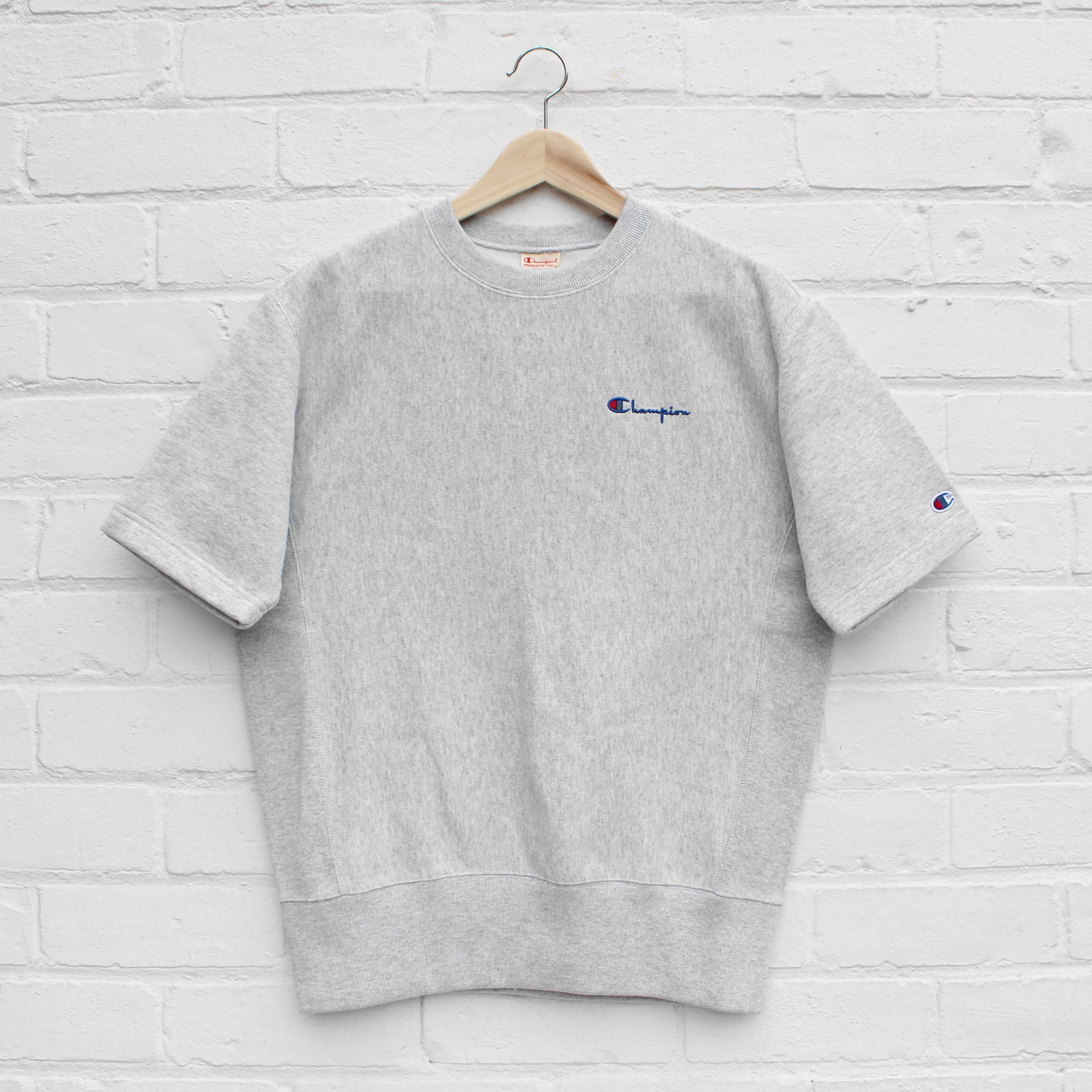 Champion Short Sleeve Classic Crew Sweat Grey Heather