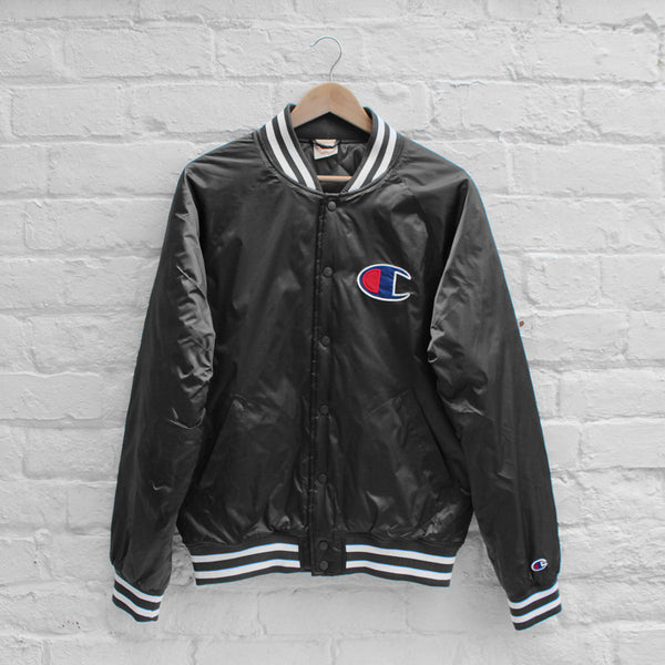 Champion Stadium Bomber Jacket Charcoal