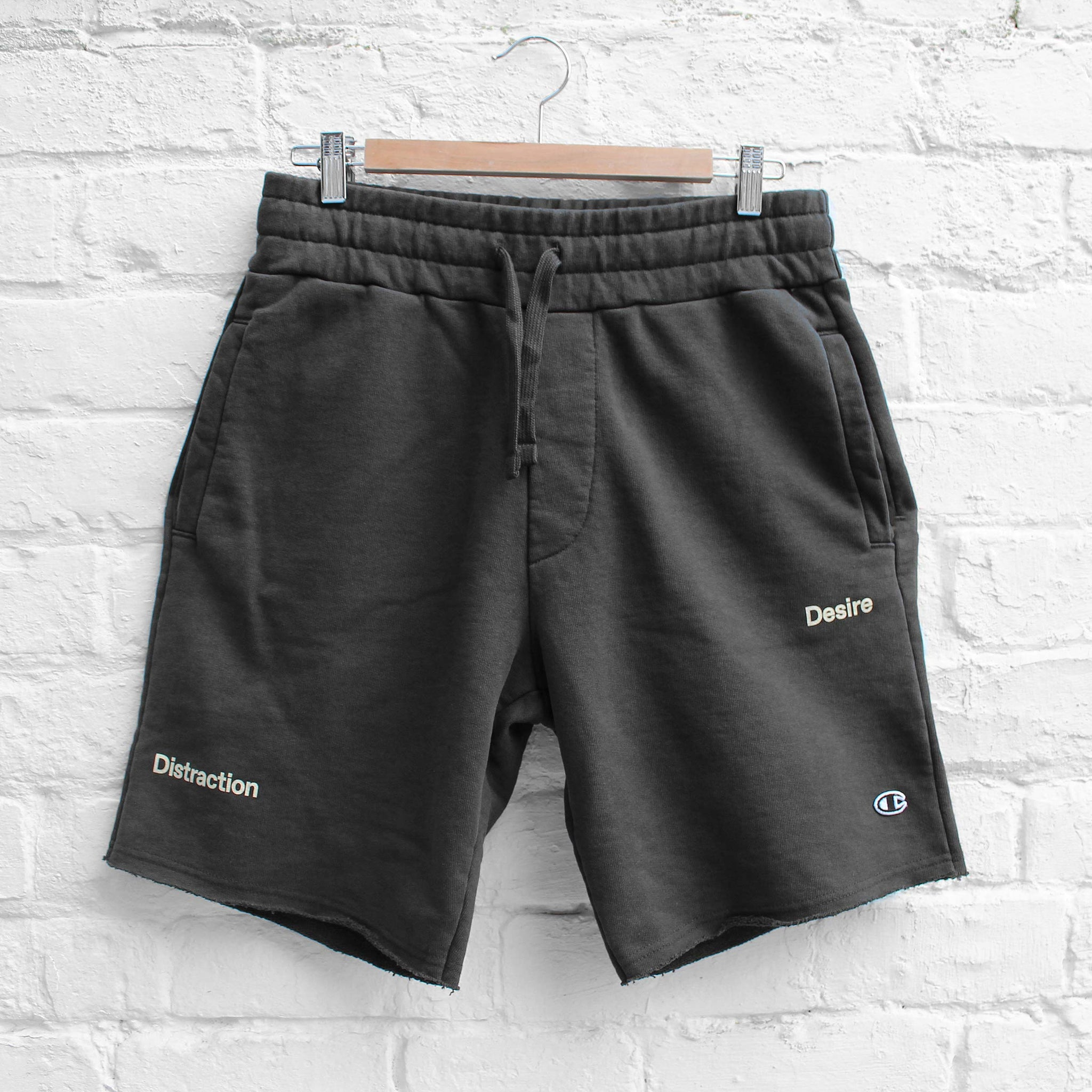 Champion x Wood Wood Track Shorts Washed Black