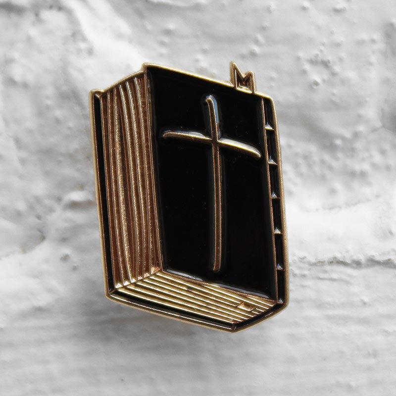 Cheat Death Corp. The Good Book Pin Badge