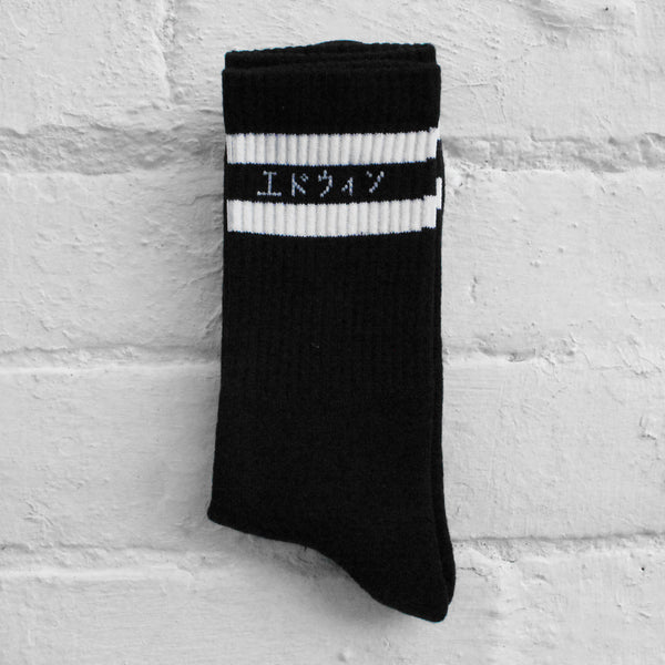 EDWIN x Democratique Tube Socks Black/White