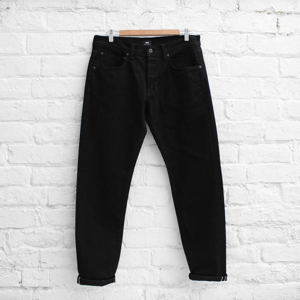 EDWIN Jeans  ED-55 - CS White Listed Black Selvage Rinsed