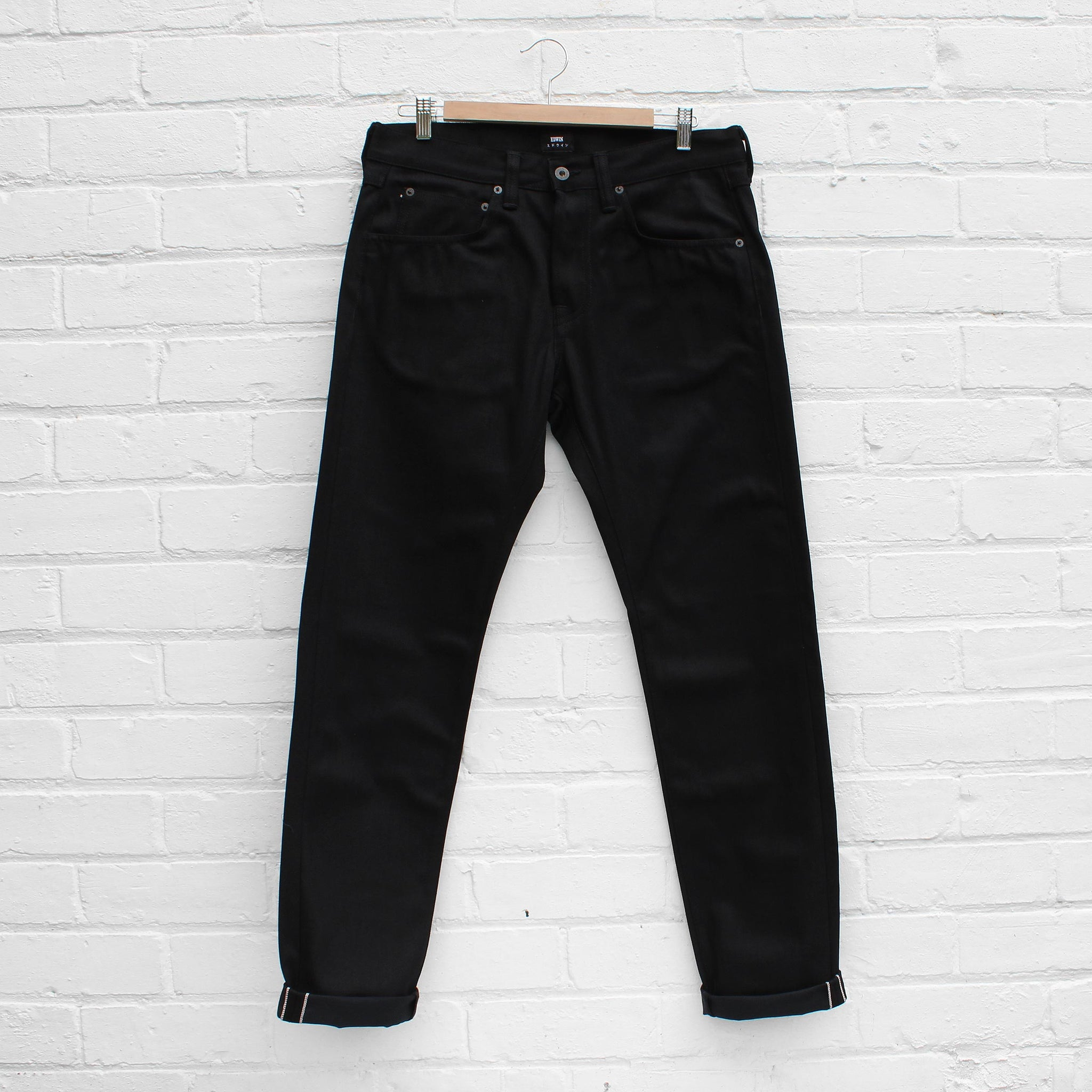 a818bf19 EDWIN ED-55 - Red Listed Black Selvage Denim - Unwashed – FUSShop