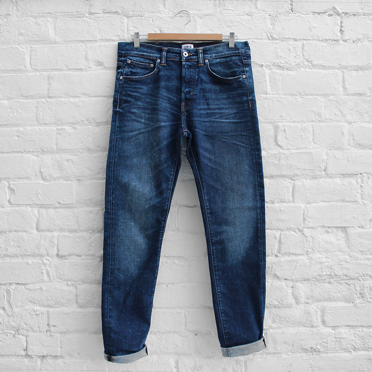 Edwin ED-80 Night Blue Denim Contrast Clean Wash
