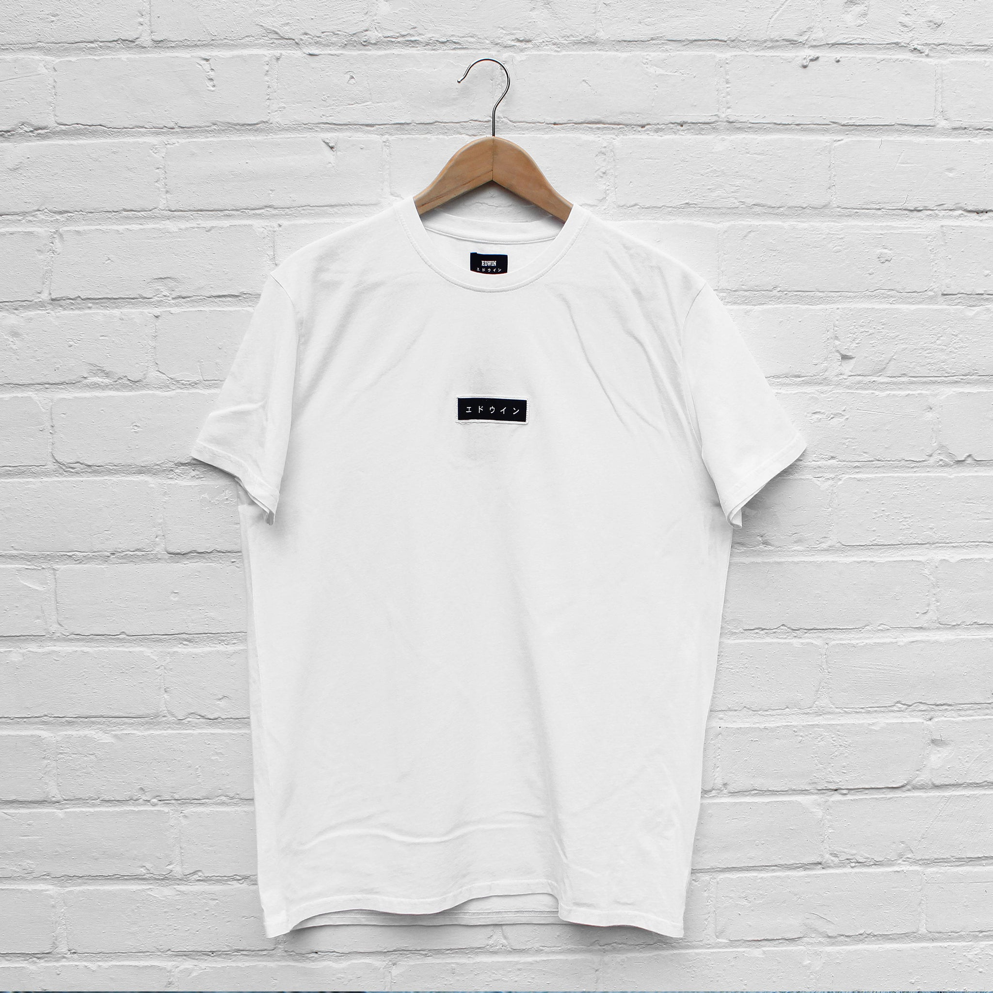 EDWIN Katakana Patch T-Shirt White