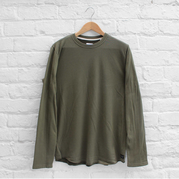 EDWIN Terry Long Sleeve Crew Olive Drab