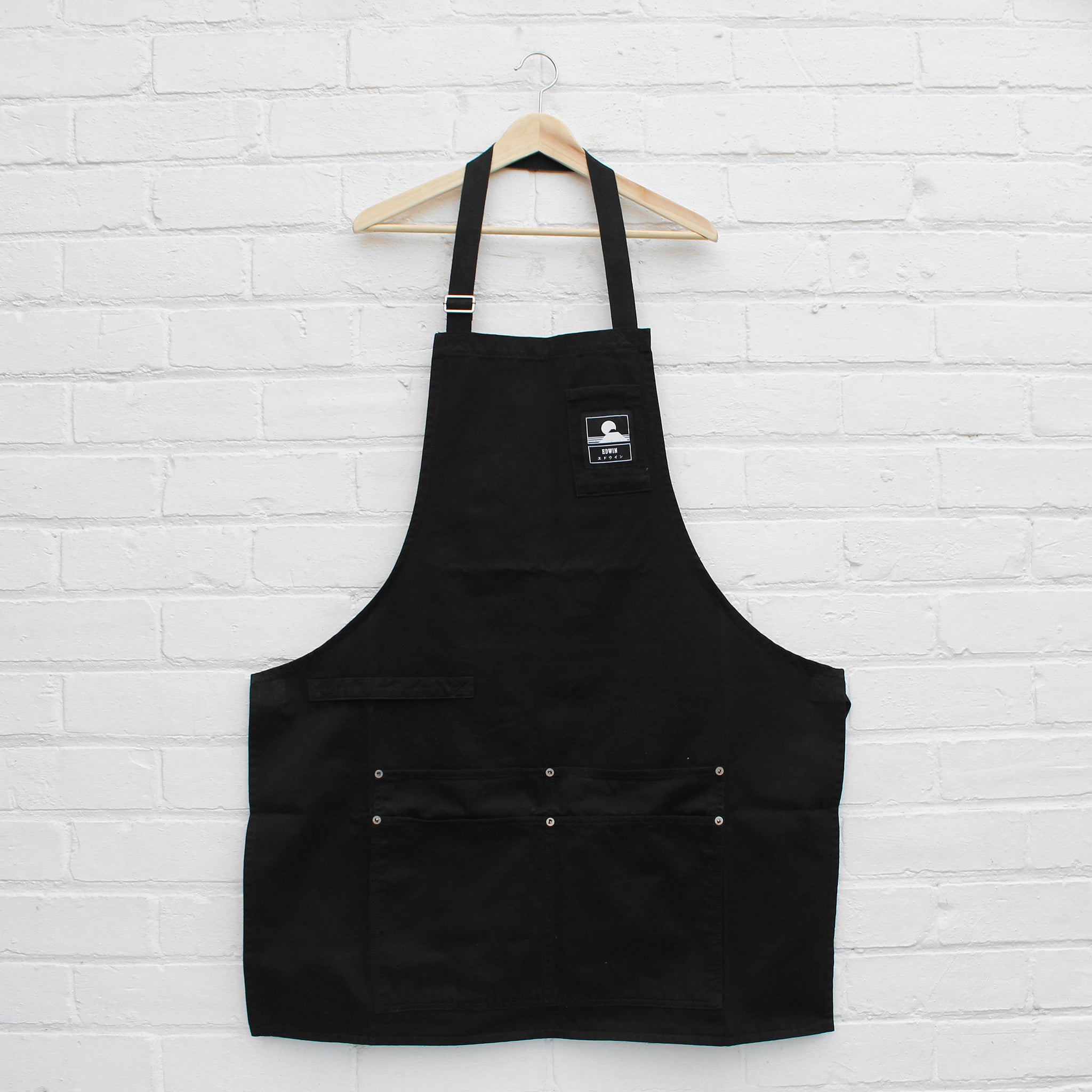 EDWIN Louie Apron Black
