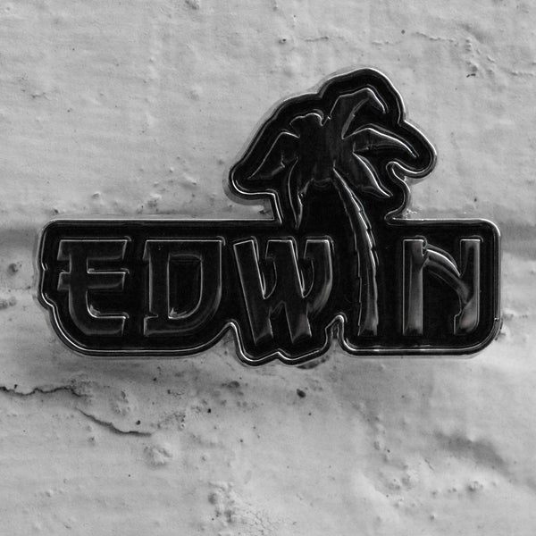 EDWIN Palm Tree Pin Badge Black/Silver