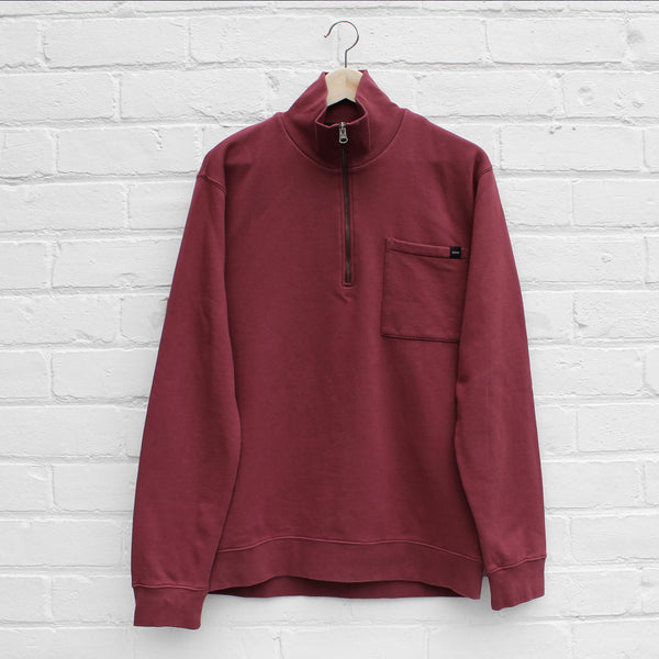 EDWIN Popover Sweat Oxblood Red