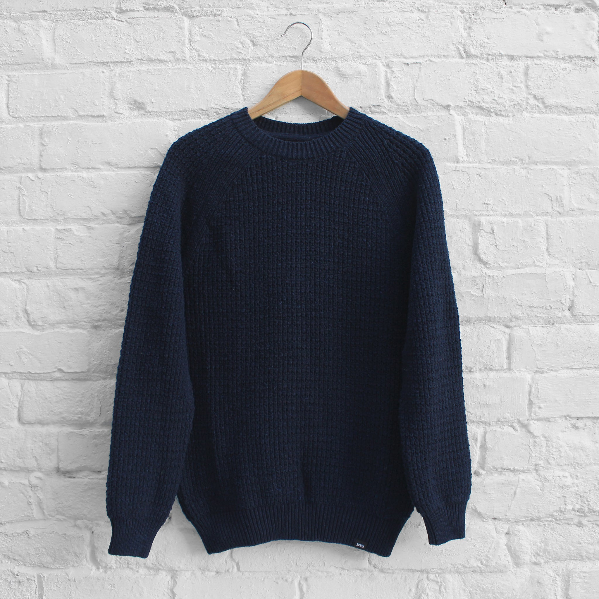 EDWIN Purl Sweater Navy