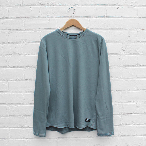 EDWIN Terry Long Sleeve Crew Goblin Blue
