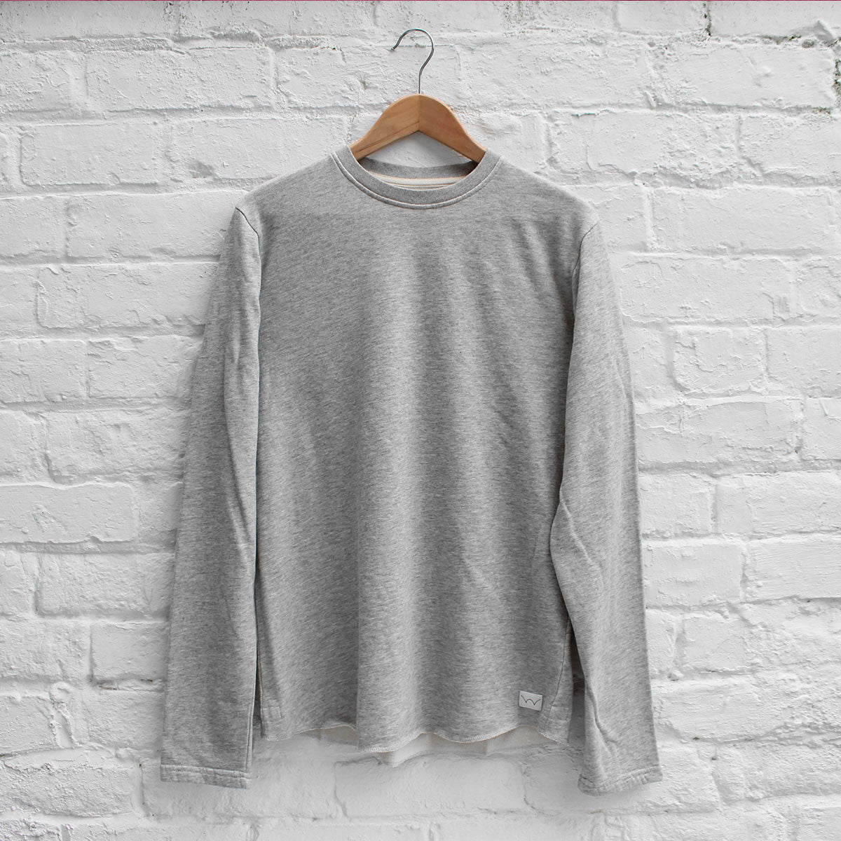 Edwin Terry Long Sleeve Crew Grey Marl