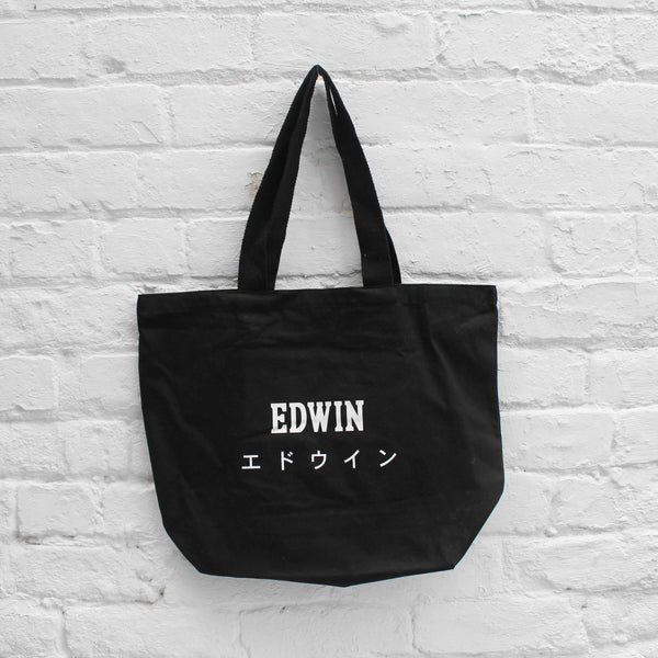 EDWIN Shopper Tote Bag Black