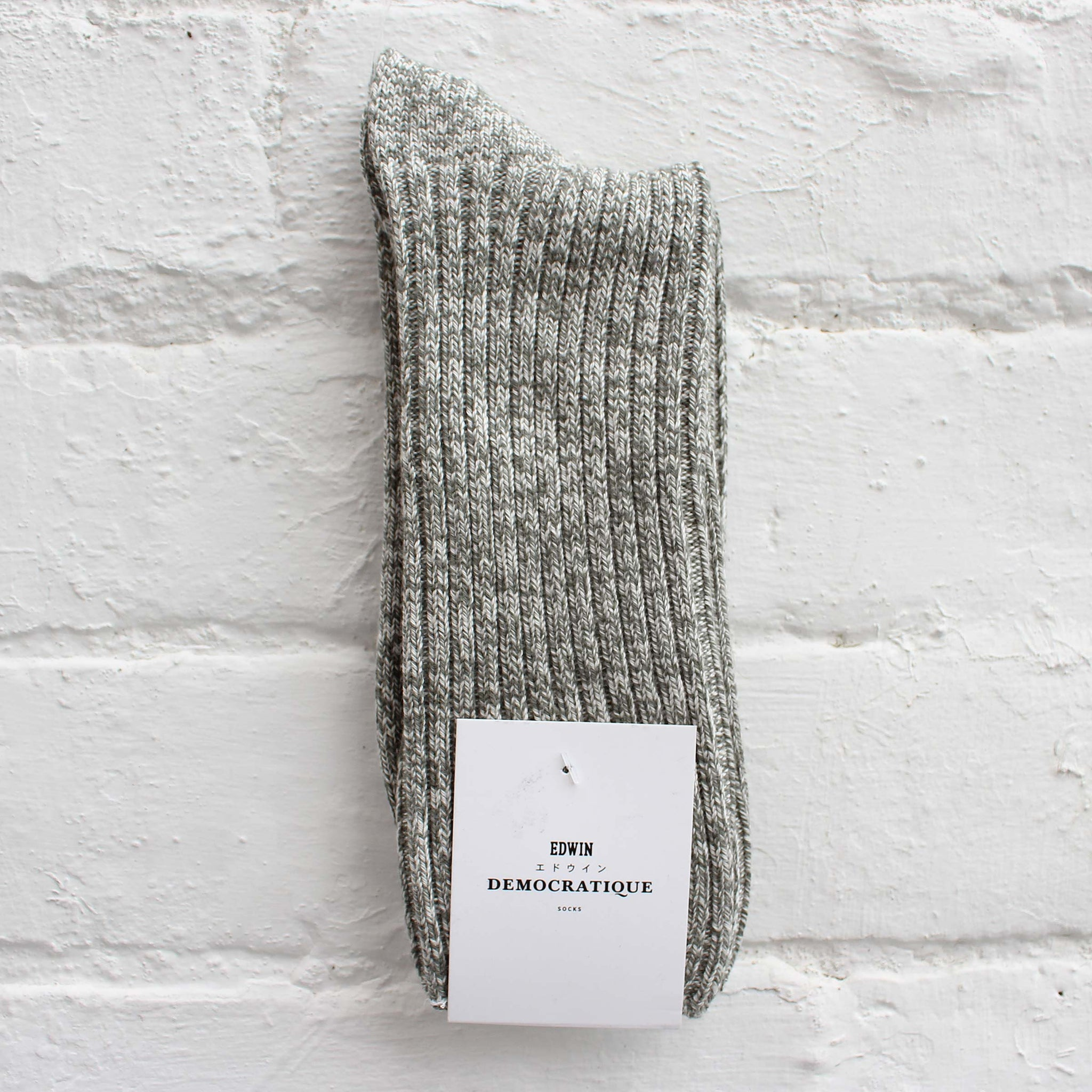 EDWIN x Democratique Rib Socks Army / Off White