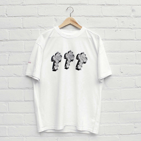EDWIN x Teide Triple Cross T-Shirt White