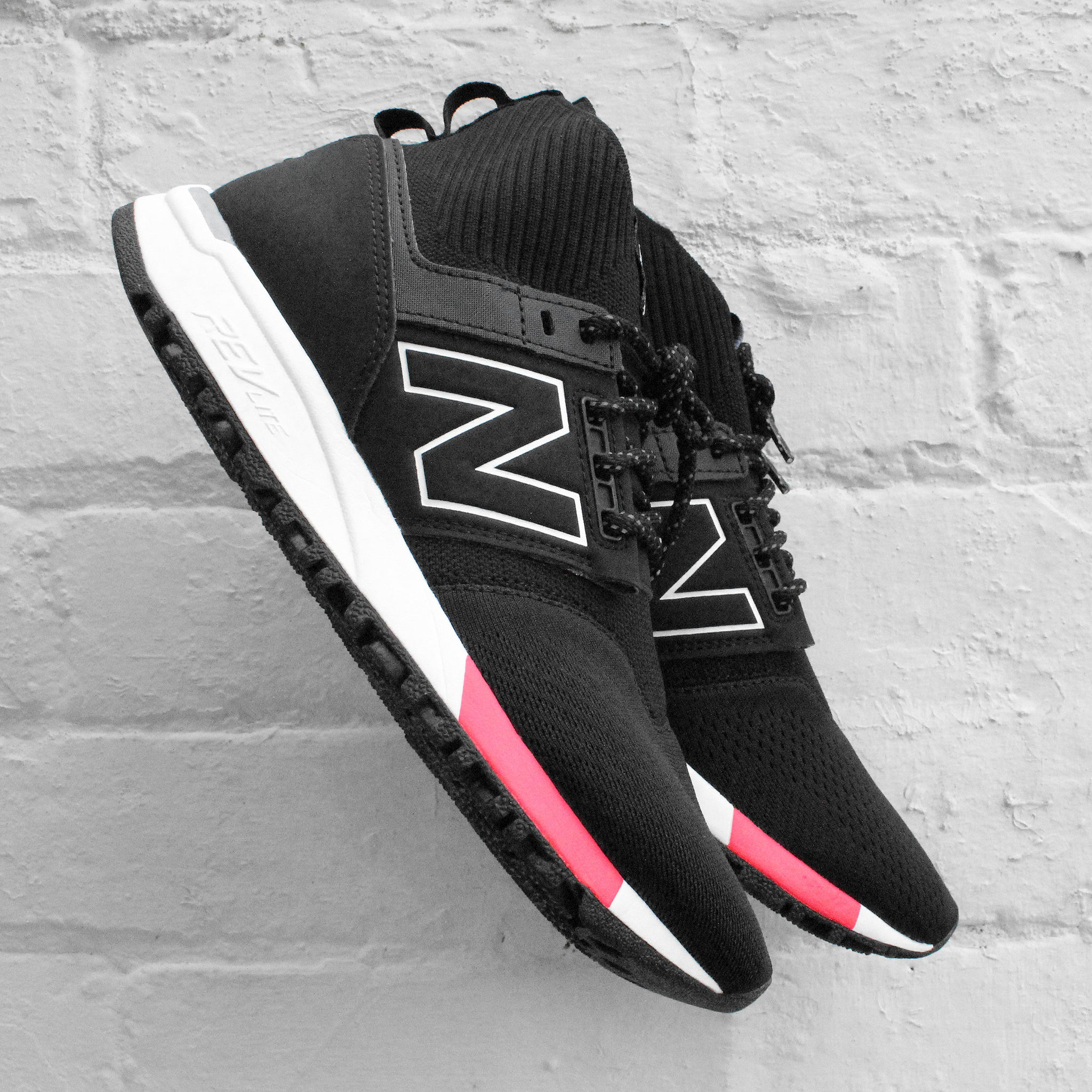 new balance 247 knit black