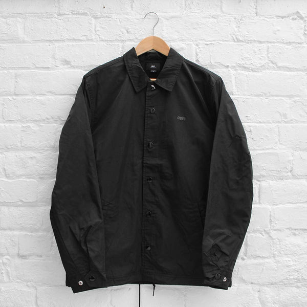 Obey Baker Graphic Coach Jacket Black