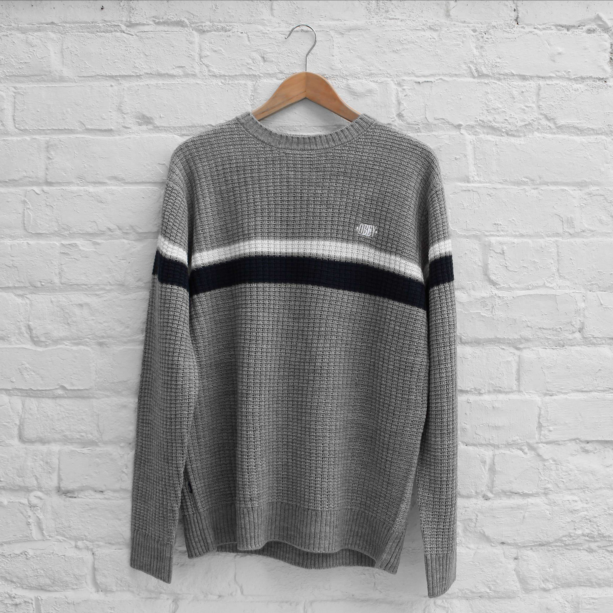 Obey Cheyne Sweater Grey Heather