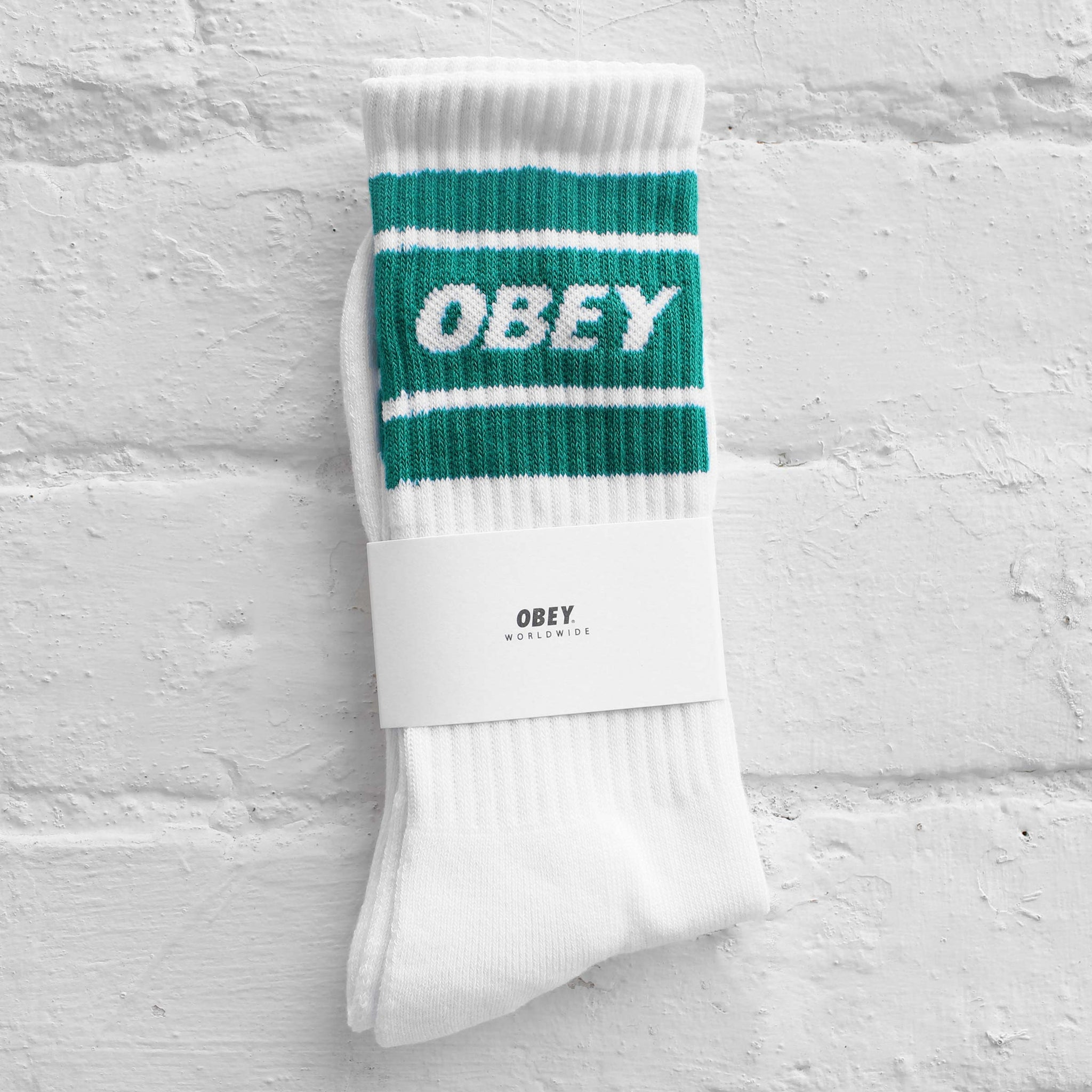 Obey Cooper II Socks  Teal/White