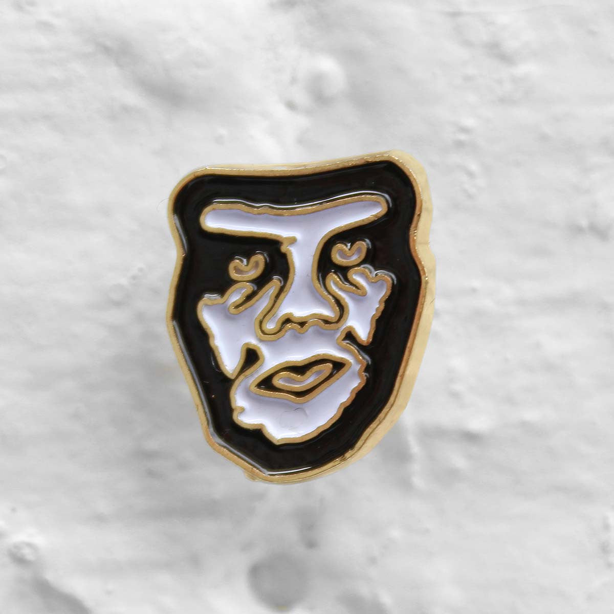 Obey Creeper Pin Badge White
