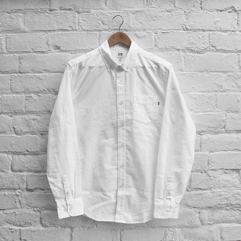 Obey Quality Dissent Oxford Shirt White