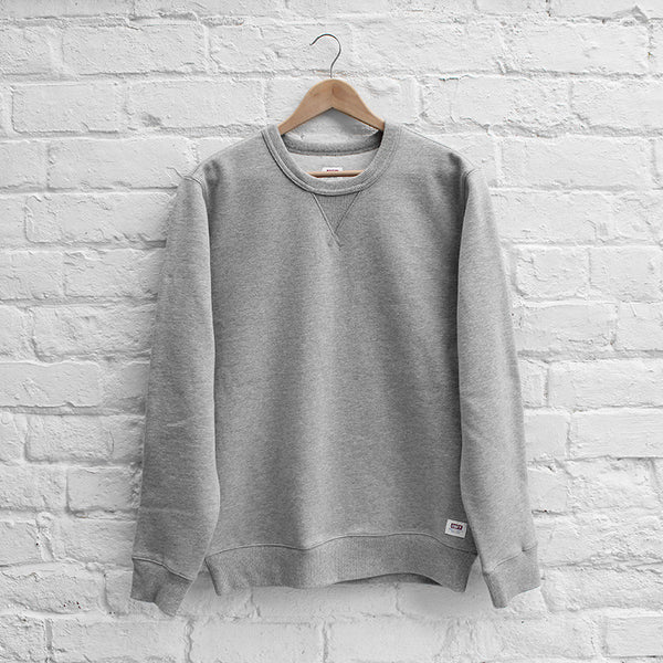 Obey Dissent Standard Crew Heather Grey