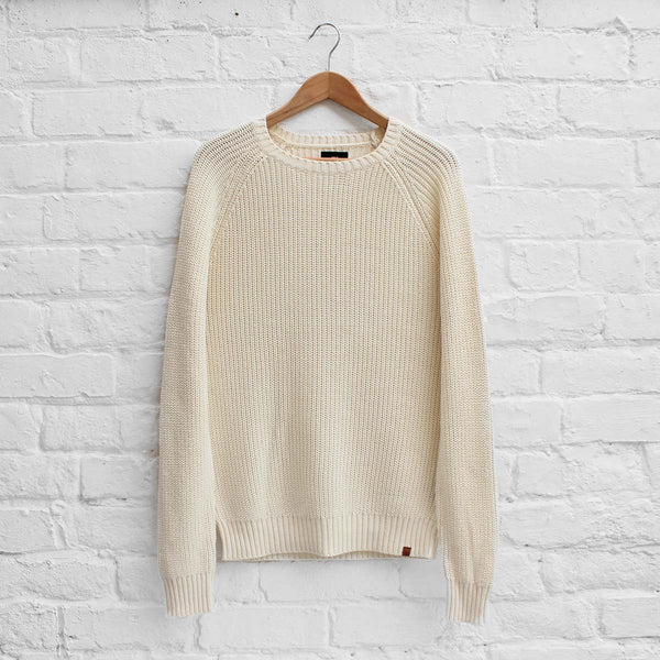 Obey Drifter Ribbed Sweater Cream
