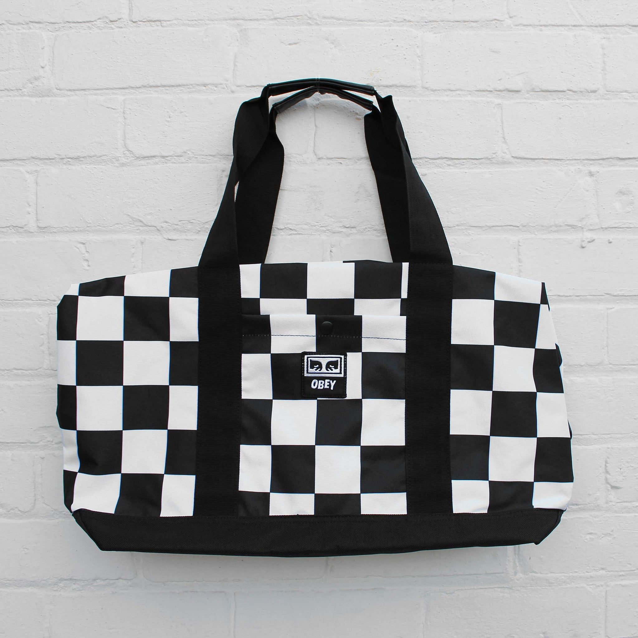 Obey Drop Out Weekender Duffle Bag Checker