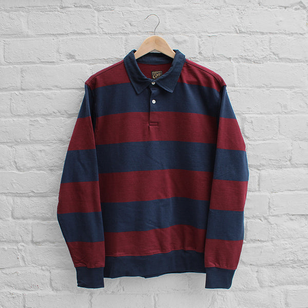 Obey Edinburgh Rugby Shirt Burgundy/Navy