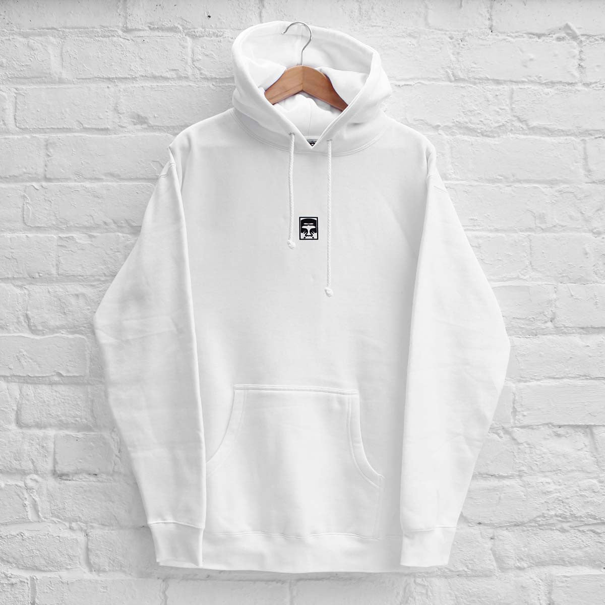 Obey Half Face Hoody White