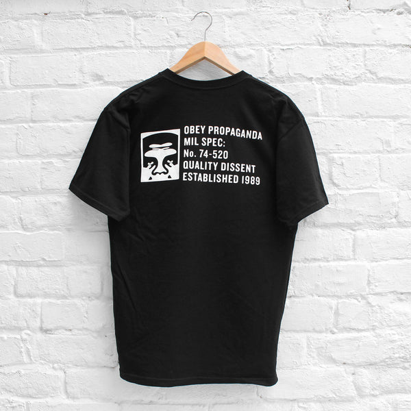 Obey Half Face Mil Spec T-Shirt Black