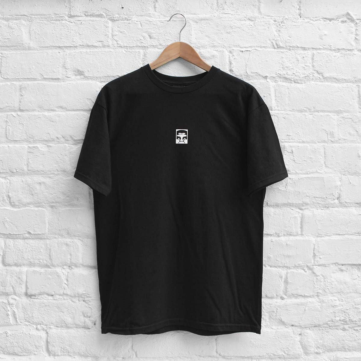 Obey Half Face T-Shirt Black