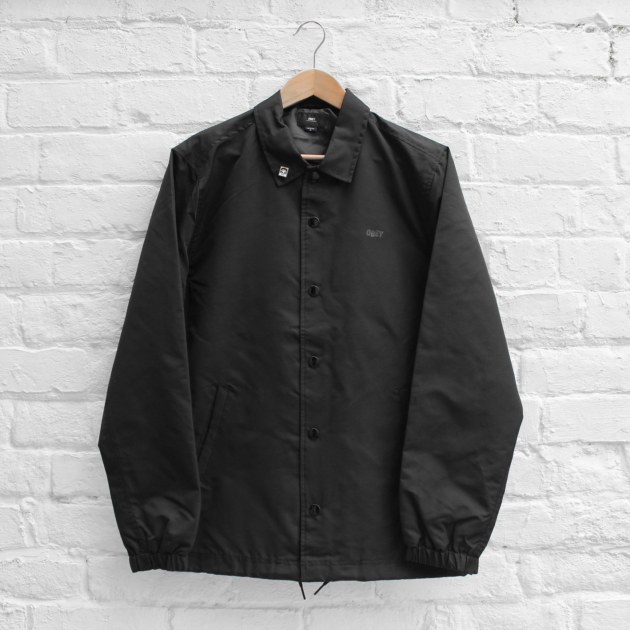 Obey Highline Coach Jacket Black