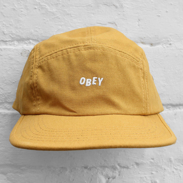 Obey Jumble Bar 5-Panel Cap Dusty Yellow