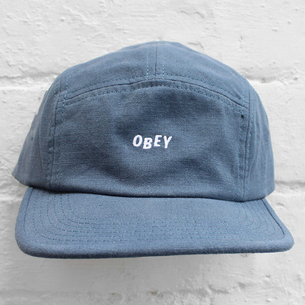 Obey Jumble Bar 5-Panel Cap Vintage Indigo
