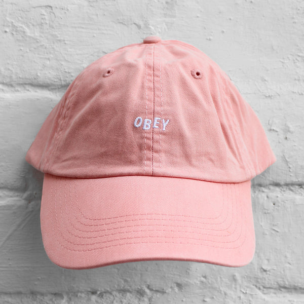 Obey Jumble Bar 6-Panel Cap Rose