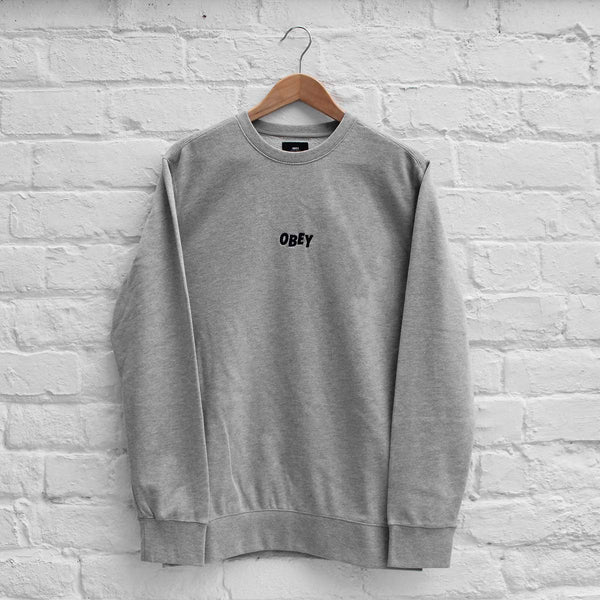 Obey Jumble Bars Crew Heather Grey