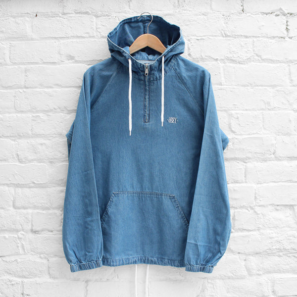 Obey Jungle Denim Anorak Light Blue