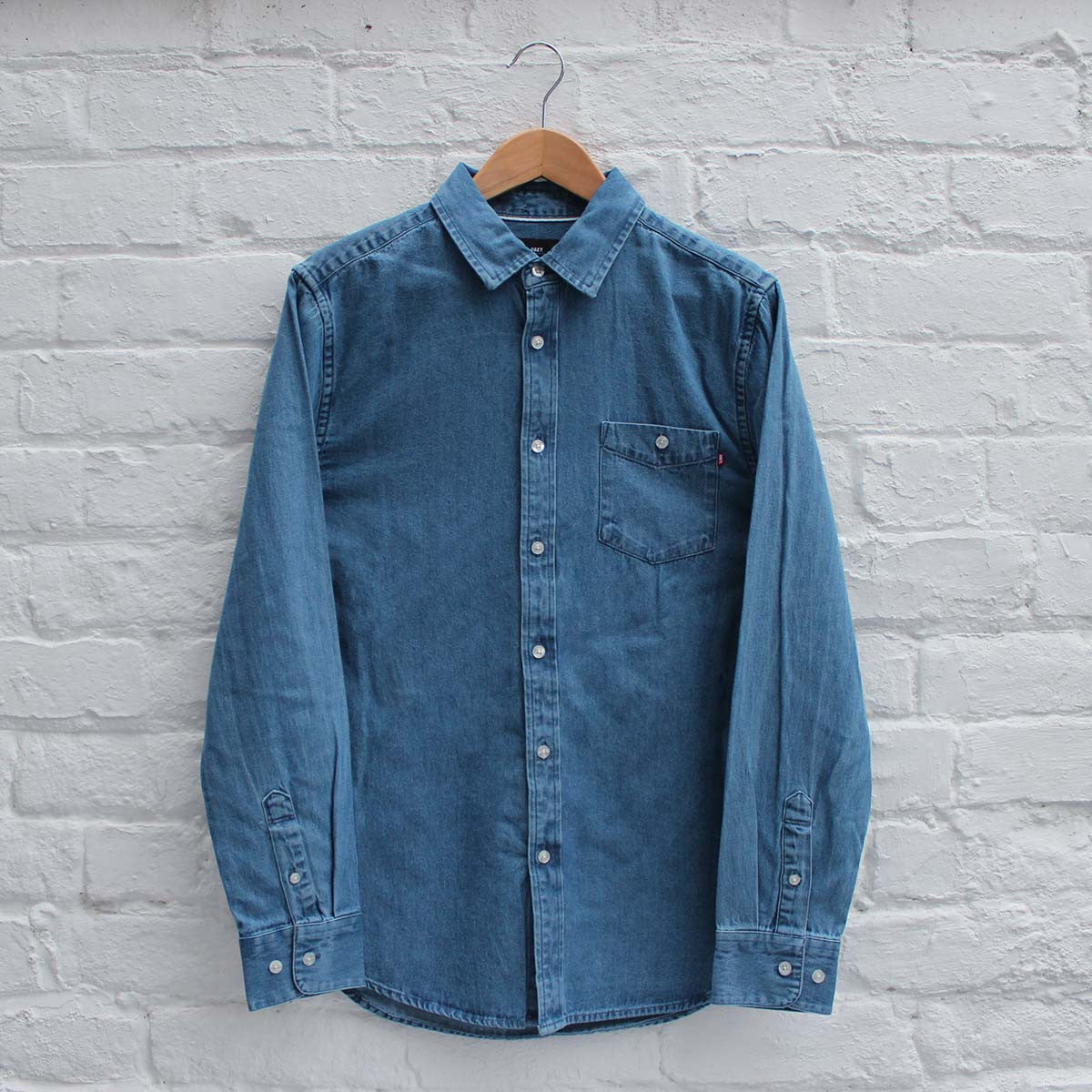 Obey Keble Shirt Light Blue