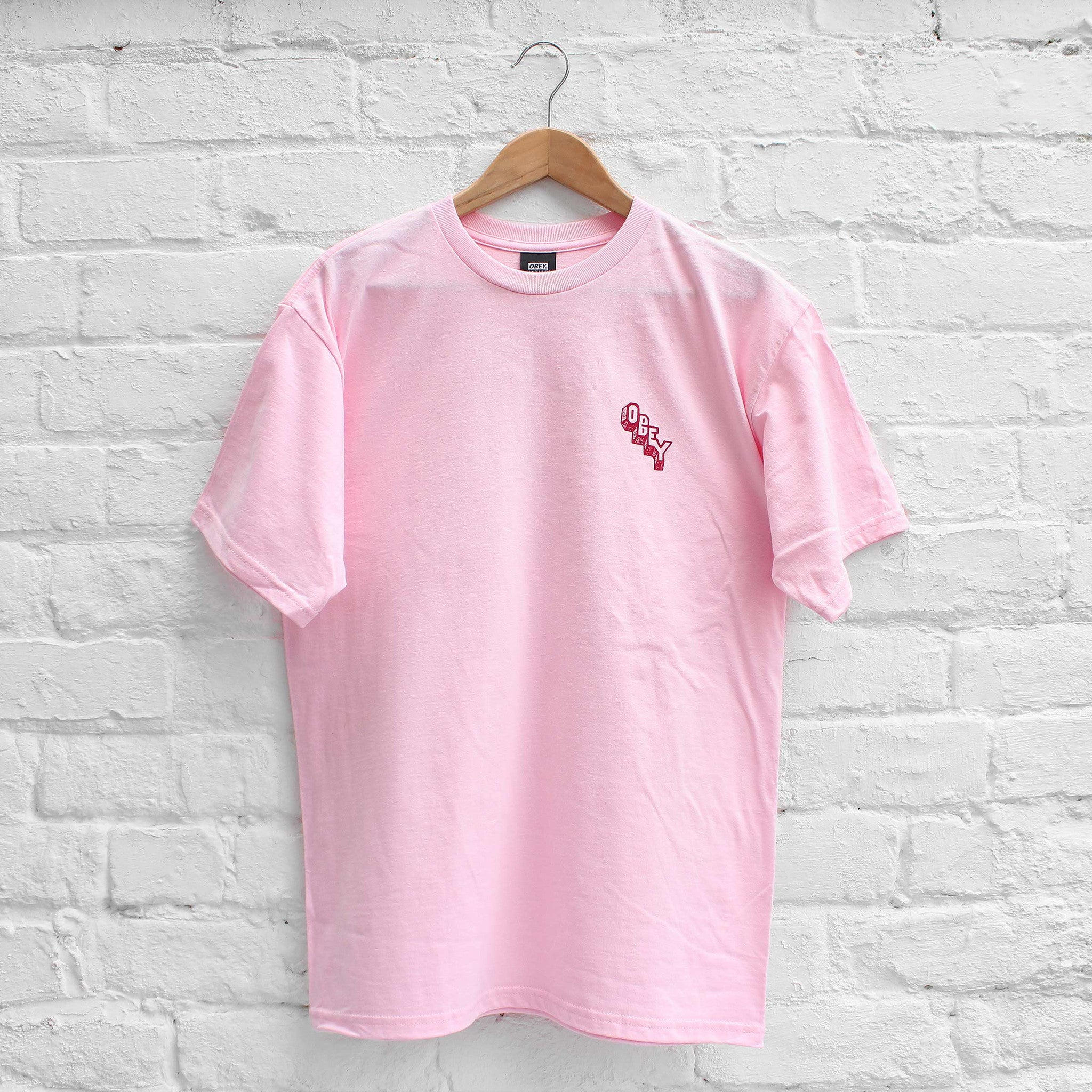 Obey Marker Block T-Shirt Pink