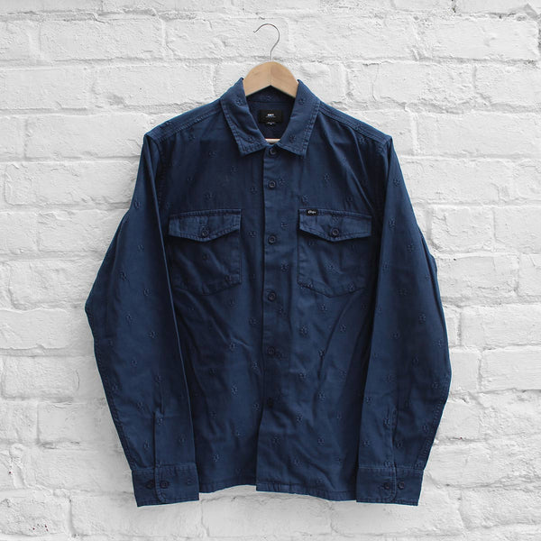Obey Morris Shirt Jacket Navy