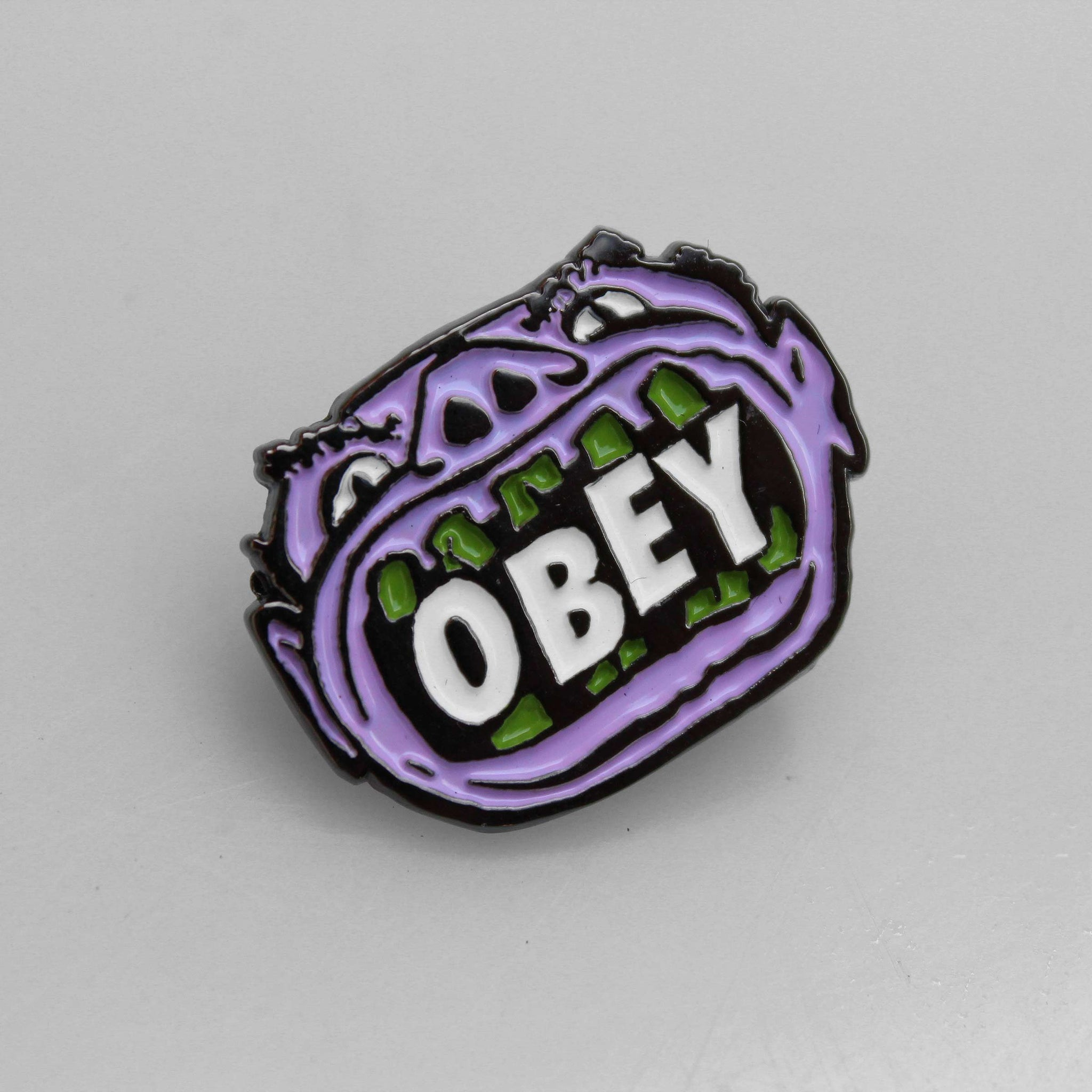 Obey Mouth Pin Badge