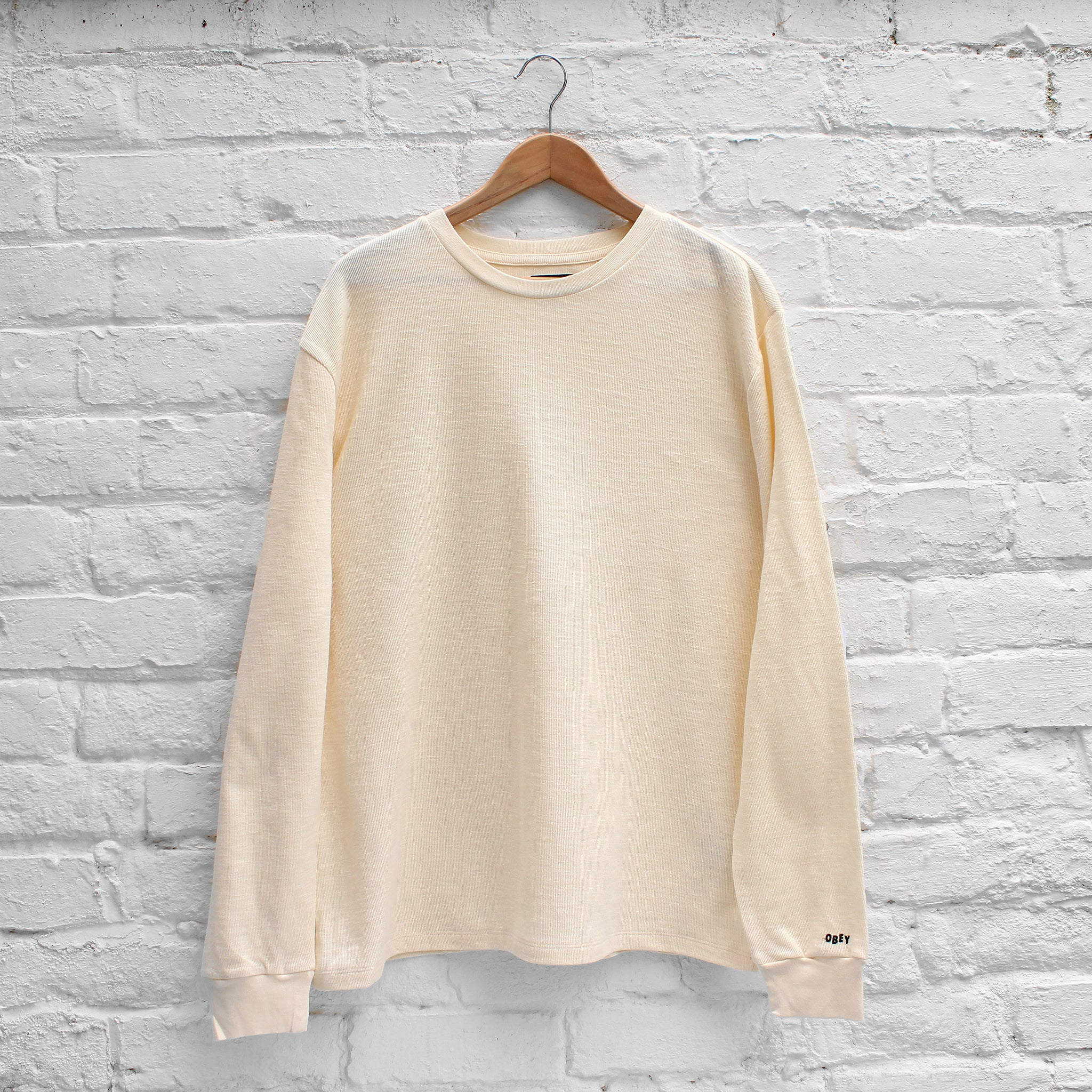 Obey Normal Long Sleeve Tee Cream