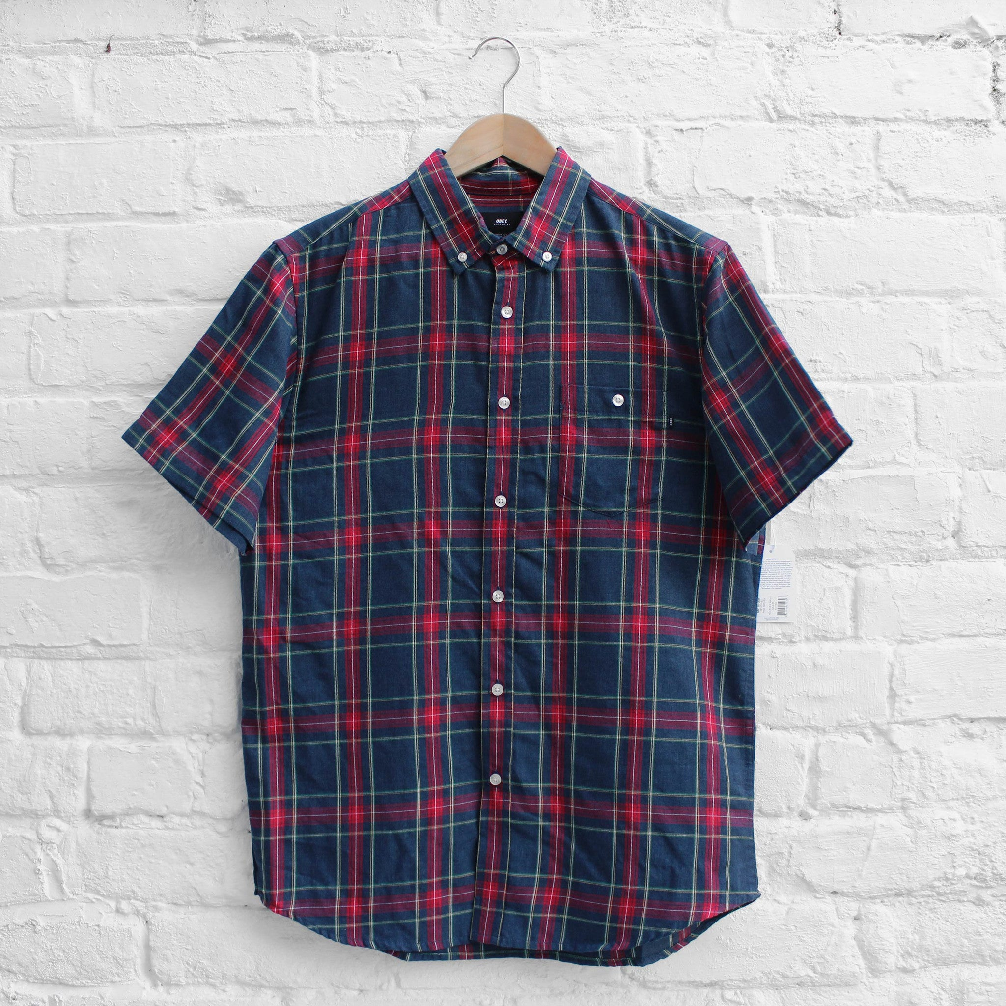 Obey Pine Shirt Navy