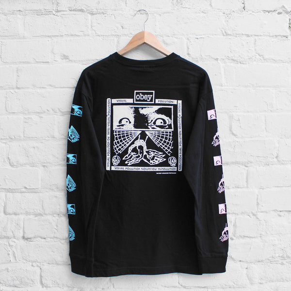Obey Shockbound Long Sleeve T-Shirt Black
