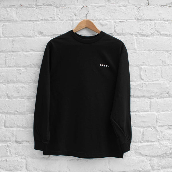 Obey Underground Worldwide Long Sleeve T-Shirt Black