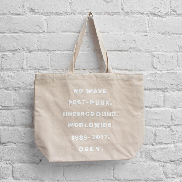 Obey Underground Worldwide Tote Bag Natural