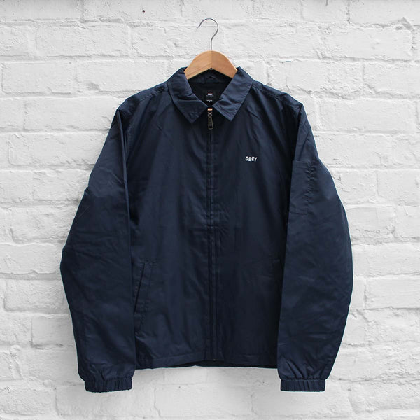 Obey Wheels Graphic Jacket Navy
