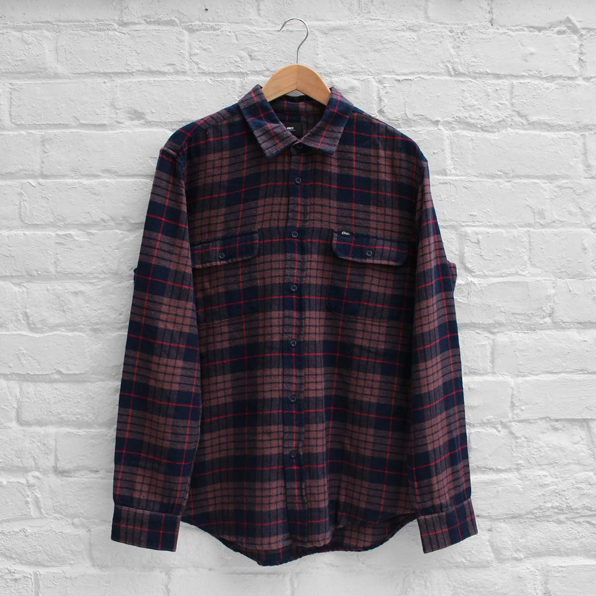 Obey Wyatt Shirt Navy